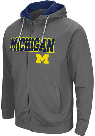Colosseum Michigan Wolverines Mens Grey Classic Full Zip Jacket