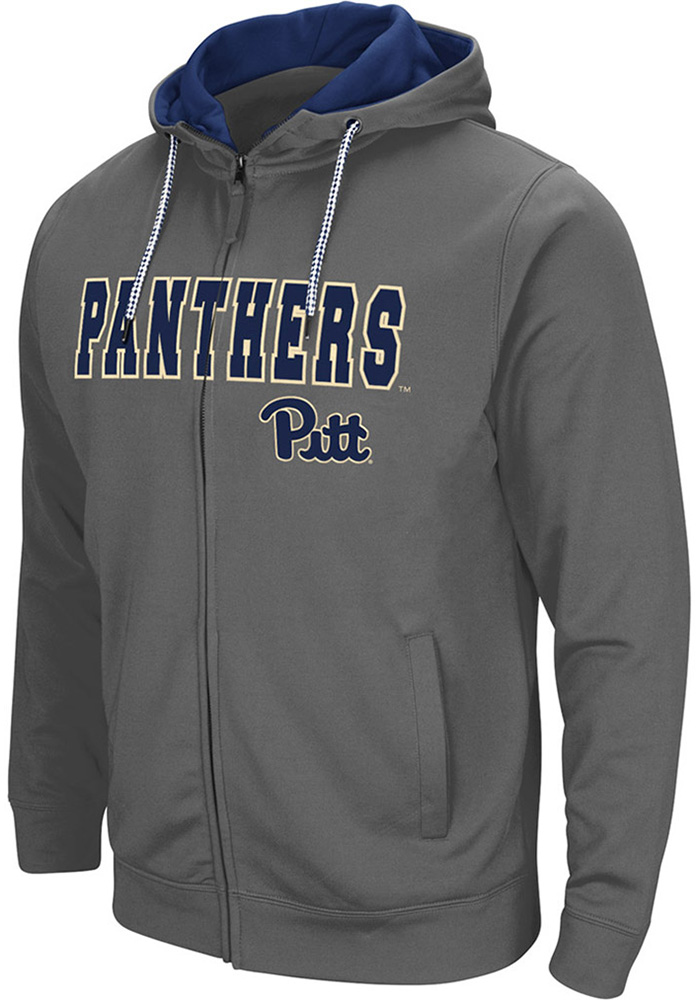 Colosseum Pitt Panthers Mens Charcoal Classic Long Sleeve Full Zip Jacket - Image 1