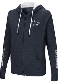 Penn State Nittany Lions Womens Colosseum Contract Full Zip Jacket - Navy Blue