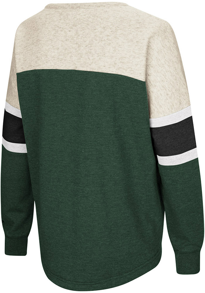 Colosseum Michigan State Spartans Womens Green Become Great Crew Sweatshirt - Image 2