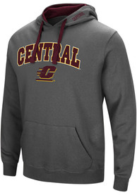 Central Michigan Chippewas Colosseum Manning Hooded Sweatshirt - Charcoal