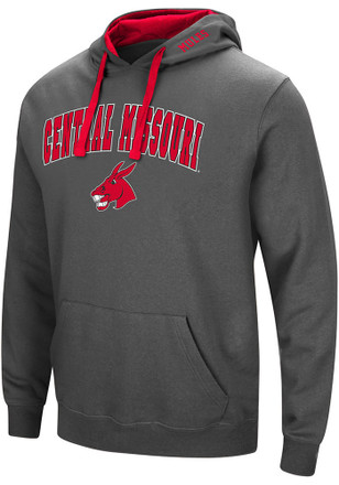 Colosseum Central Missouri Mules Mens Grey Manning Hoodie