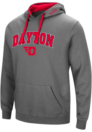 Colosseum Dayton Flyers Mens Grey Manning Hoodie