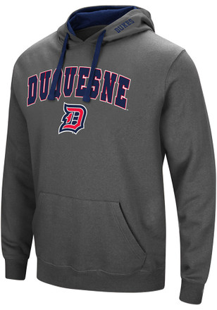Colosseum Duquesne Dukes Mens Grey Manning Hoodie