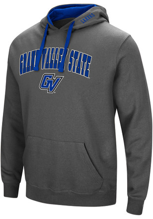 Colosseum Grand Valley State Lakers Mens Grey Manning Hoodie
