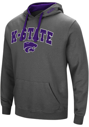 Colosseum K-State Wildcats Mens Grey Manning Hoodie