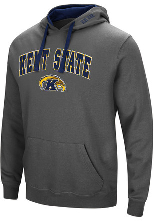 Colosseum Kent State Golden Flashes Mens Grey Manning Hoodie