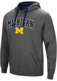 Michigan Wolverines Colosseum Manning Hooded Sweatshirt - Charcoal
