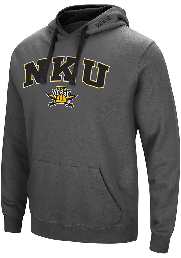 Colosseum Northern Kentucky Norse Mens Grey Manning Long Sleeve Hoodie - Image 1