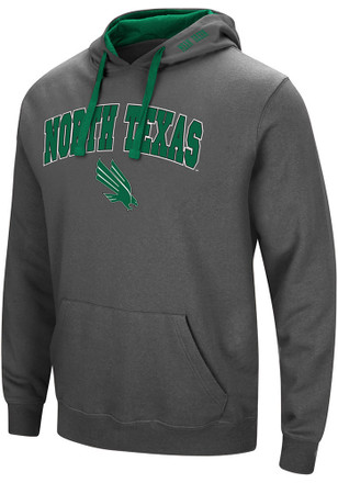 Colosseum North Texas Mean Green Mens Grey Manning Hoodie