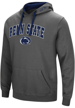 Colosseum Penn State Nittany Lions Mens Grey Manning Hoodie