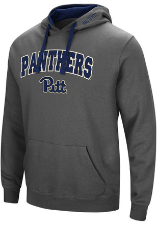 Colosseum Pitt Panthers Mens Grey Manning Hoodie