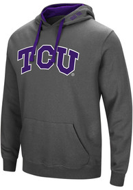 TCU Horned Frogs Colosseum Manning Hooded Sweatshirt - Charcoal