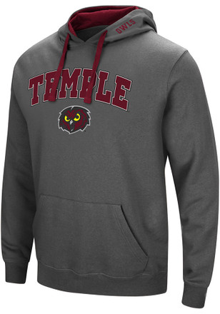 Colosseum Temple Owls Mens Grey Manning Hoodie