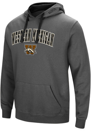 Colosseum Western Michigan Broncos Mens Grey Manning Hoodie
