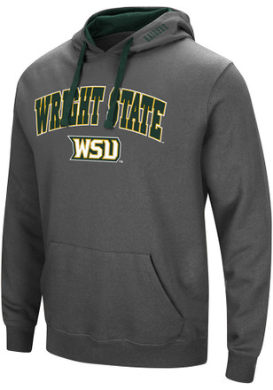 Colosseum Wright State Raiders Mens Grey Manning Hoodie