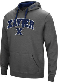 Xavier Musketeers Colosseum Manning Hooded Sweatshirt - Charcoal