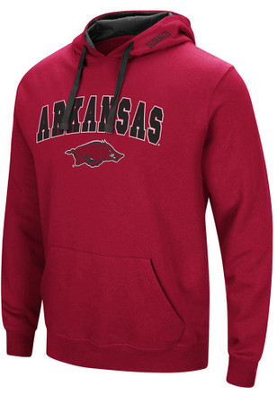 Colosseum Arkansas Razorbacks Mens Cardinal Rush Hoodie