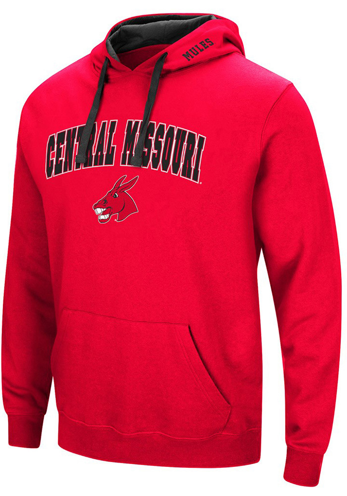 york university hoodie. colosseum central missouri mules mens red rush hoodie york university