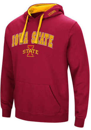 Colosseum Iowa State Cyclones Mens Cardinal Rush Hoodie