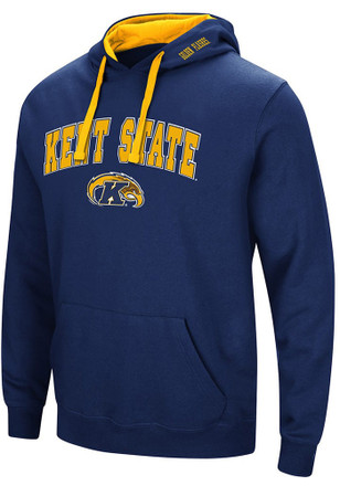 Colosseum Kent State Golden Flashes Mens Navy Blue Rush Hoodie