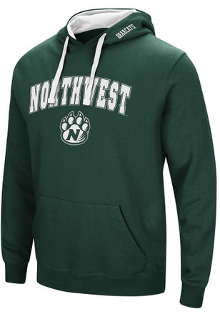 Colosseum Northwest Missouri State Bearcats Mens Green Rush Hoodie