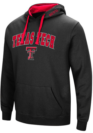 Colosseum Texas Tech Red Raiders Mens Black Rush Hoodie