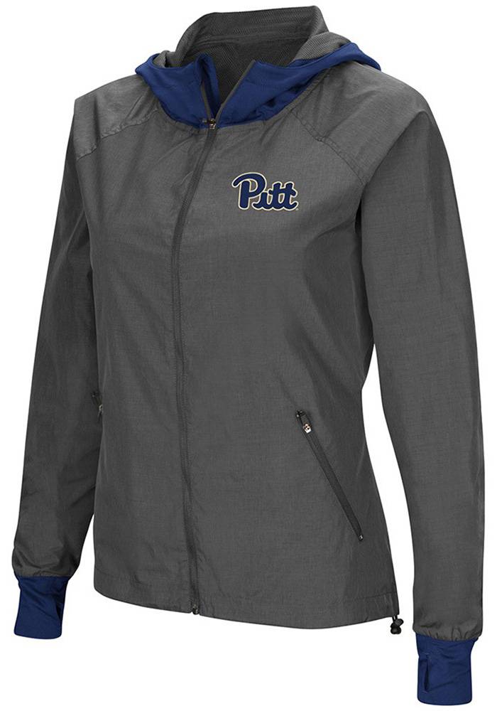 Colosseum Pitt Panthers Womens Grey Backside Light Weight Jacket - Image 1