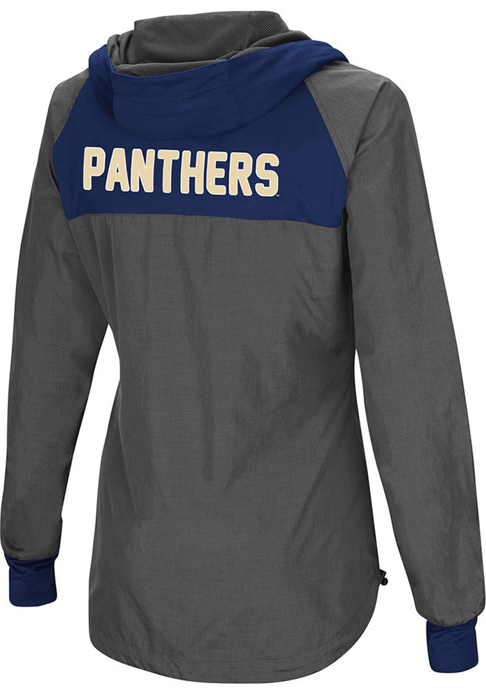 Colosseum Pitt Panthers Womens Grey Backside Light Weight Jacket - Image 2
