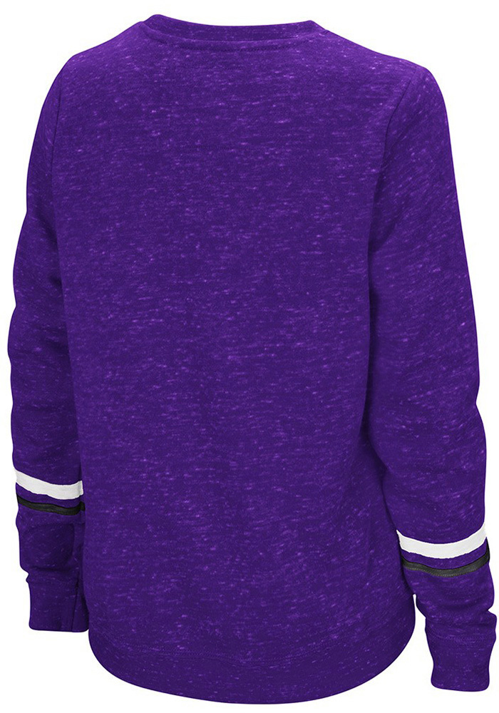 Colosseum TCU Horned Frogs Womens Purple Birdie Crew Sweatshirt - Image 2