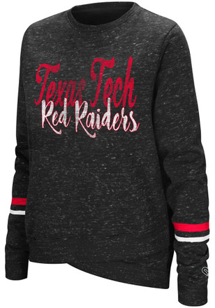 Colosseum Texas Tech Red Raiders Womens Birdie Red Crew Sweatshirt