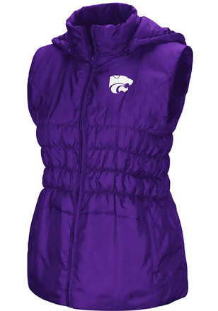 Colosseum K-State Wildcats Womens Purple Discus Puff Vest