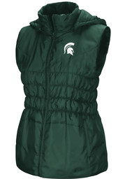 Colosseum Michigan State Spartans Womens Green Discus Puff Vest