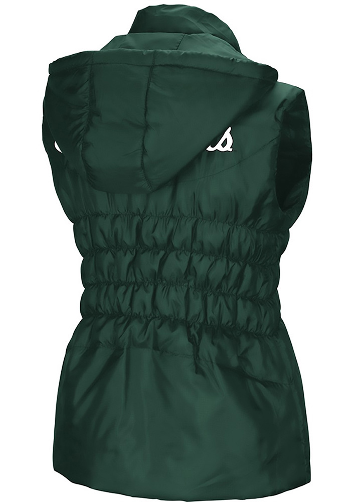 Colosseum Michigan State Spartans Womens Green Discus Puff Vest - Image 2