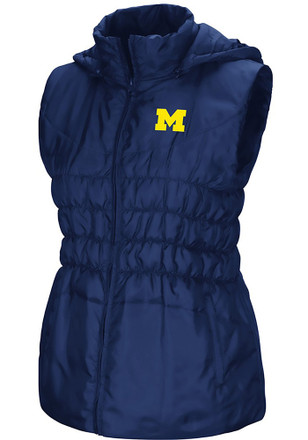 Colosseum Michigan Wolverines Womens Navy Blue Discus Puff Vest