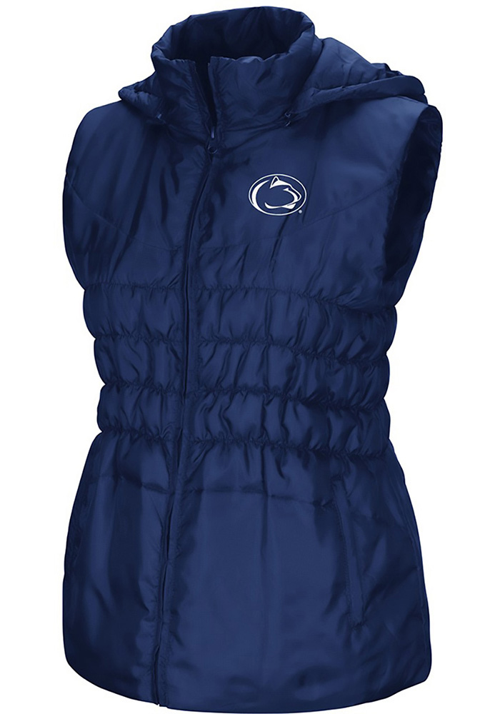 Colosseum Penn State Nittany Lions Womens Navy Blue Discus Puff Vest - Image 1