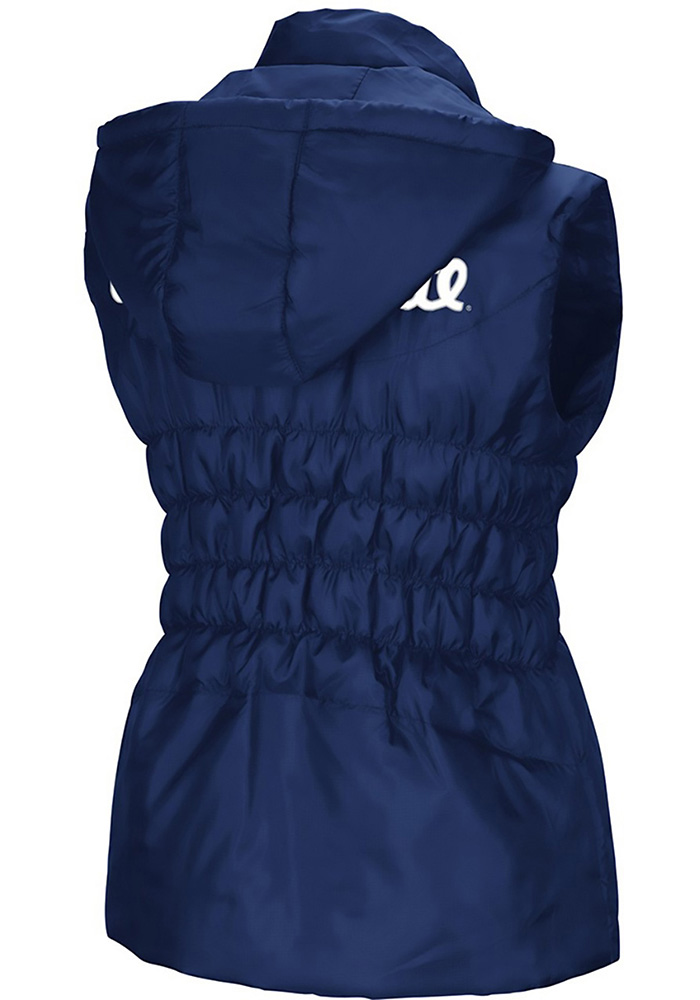 Colosseum Penn State Nittany Lions Womens Navy Blue Discus Puff Vest - Image 2