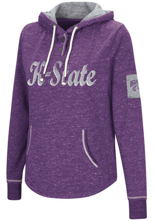 Colosseum K-State Wildcats Womens Purple Double Double Hoodie