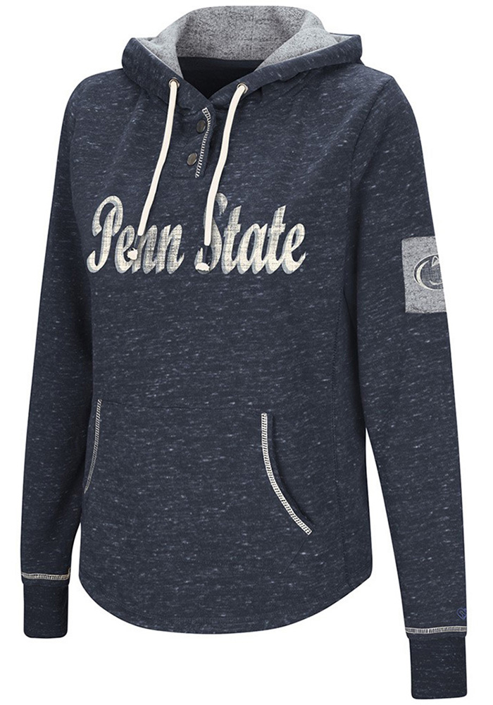 Colosseum Penn State Nittany Lions Womens Navy Blue Double Double Hooded Sweatshirt - Image 1