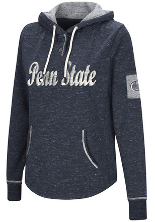 Colosseum Penn State Nittany Lions Womens Navy Blue Double Double Hoodie