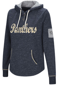 Pitt Panthers Womens Colosseum Double Double Hooded Sweatshirt - Navy Blue