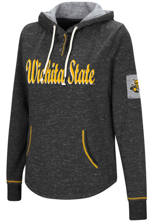 Colosseum Wichita State Shockers Womens Black Double Double Hoodie