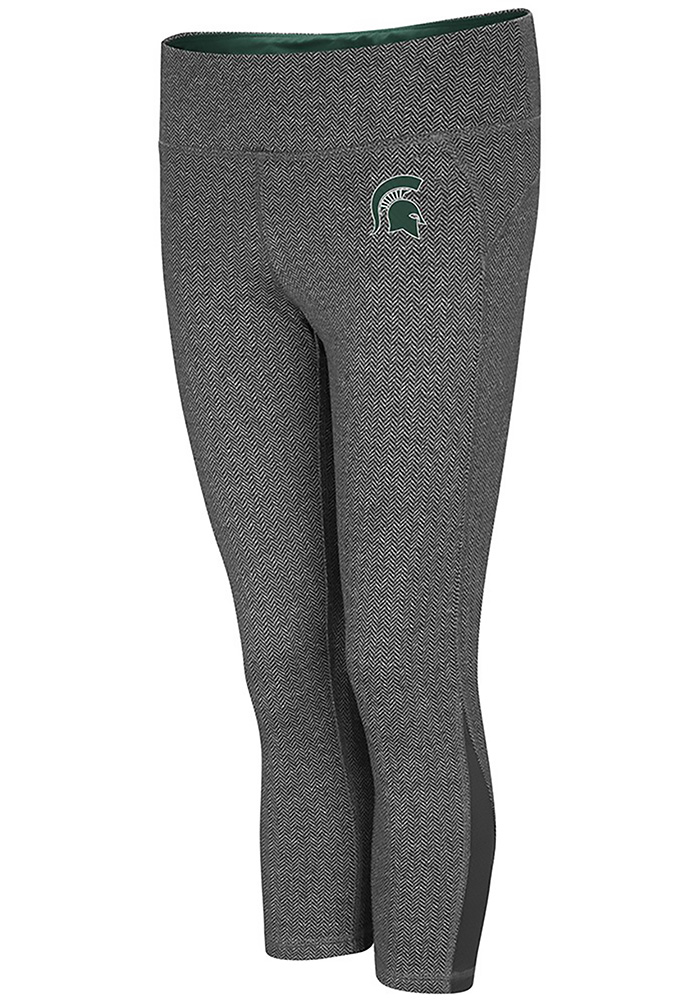 Colosseum Michigan State Spartans Womens Charcoal High Jump Pants - Image 1