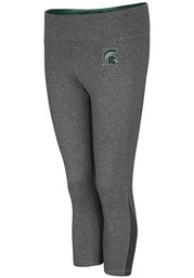 Michigan State Spartans Womens Colosseum High Jump Pants - Charcoal