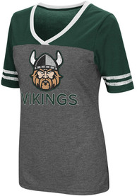 Colosseum Cleveland State Vikings Womens Grey McTwist V-Neck
