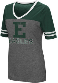 Colosseum Eastern Michigan Eagles Womens Grey McTwist V-Neck