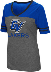 Colosseum Grand Valley State Lakers Womens Grey McTwist V-Neck