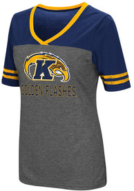Colosseum Kent State Golden Flashes Womens Grey McTwist V-Neck