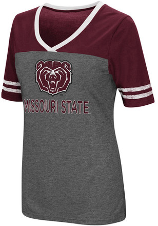 Colosseum MO State Womens Grey McTwist V-Neck