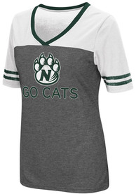 Colosseum Northwest Missouri State Bearcats Womens Grey McTwist V-Neck